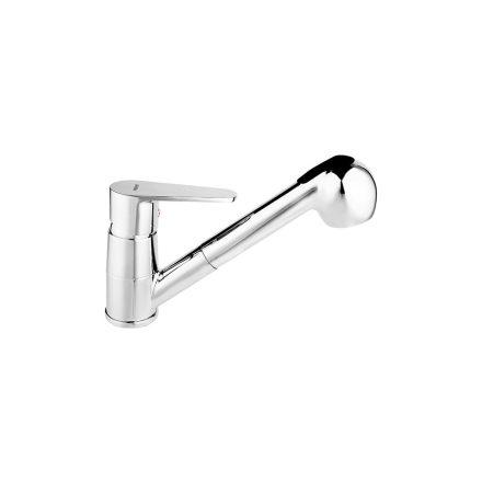 Ferro BAG8 Algeo SB Kihúzható zuhanyfejes króm csaptelep