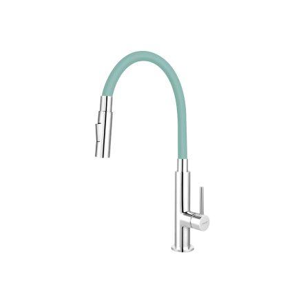 Ferro Zumba Slim BZA43M álló csaptelep flexibilis, zuhanyváltós kifolyócsővel, menta