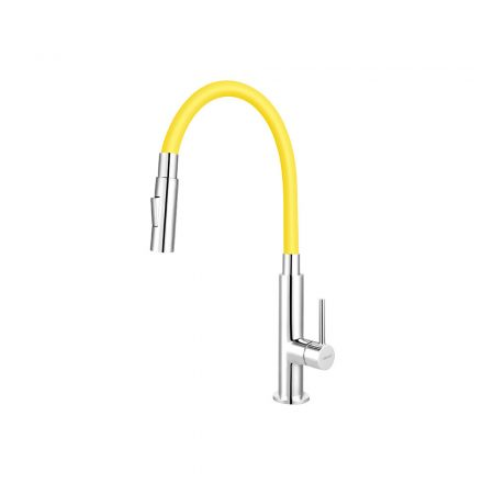 Ferro Zumba Slim BZA43C álló csaptelep flexibilis, zuhanyváltós kifolyócsővel, sárga