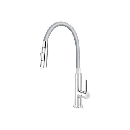 Ferro Zumba Slim BZA43S álló csaptelep flexibilis, zuhanyváltós kifolyócsővel, szürke