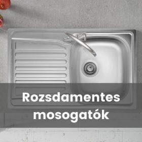 Rozsdamentes acél mosogatók
